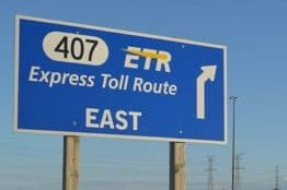 407 ETR Road Sign
